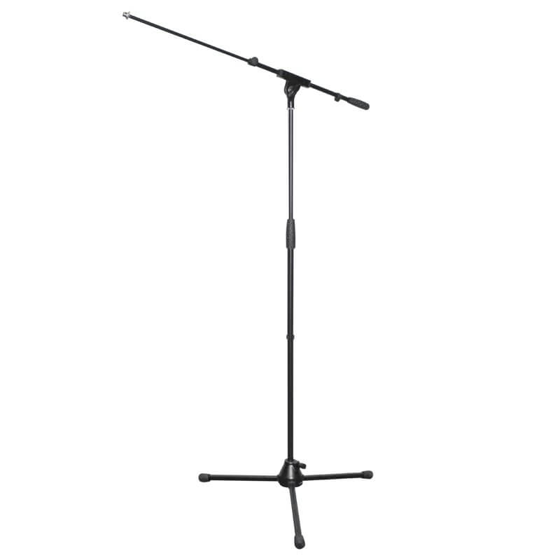 Rhino STAN11 Heavy Duty Durable Microphone Stand Black Extendable Boom