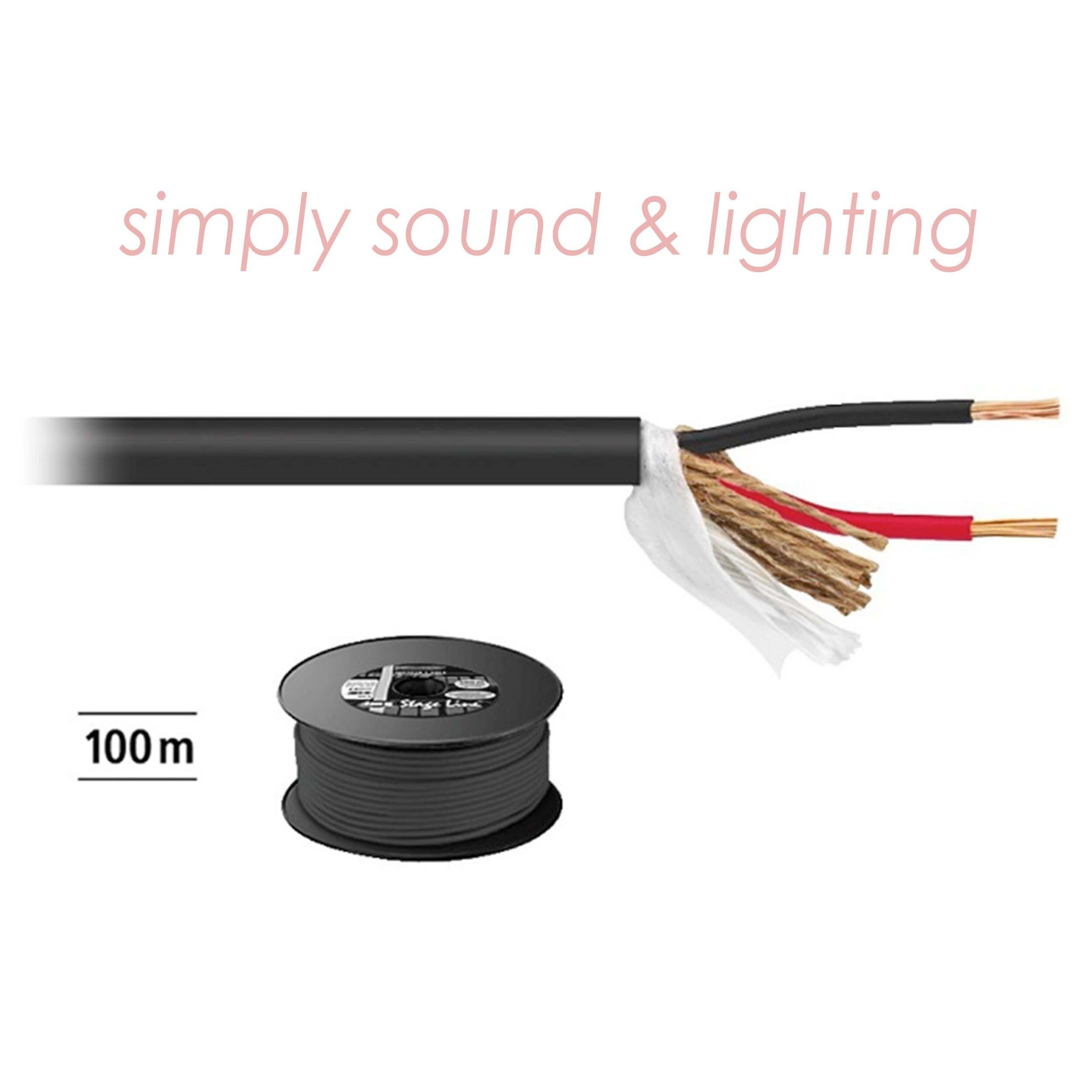 IMG Stageline 100M 2 x 2.5mm Speaker Cable