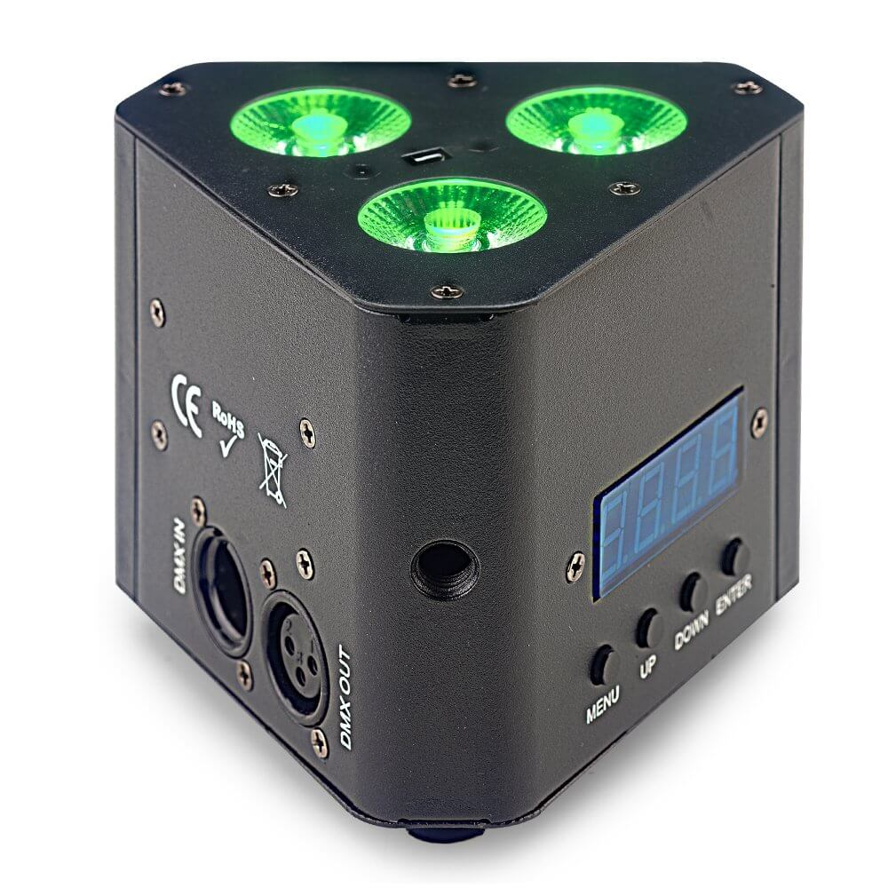 Stagg Wedge Tri LED Uplighter for Truss Warmer Triangle Light DJ Disco inc Remote