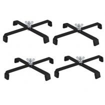 4x Par Can Black Metal Floor Stand