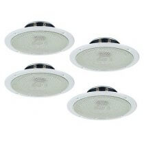 4x Monacor SPE-158/WS Ceiling Speaker (White)