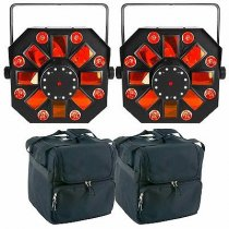2x Chauvet DJ Swarm Wash 4-in-1 inc. Carry Bags