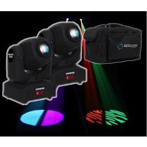 2x Equinox Fusion Spot MKII Moving Head inc Case