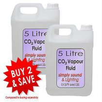 2x 5L Simply Sound & Lighting CO2 Effect Fluid