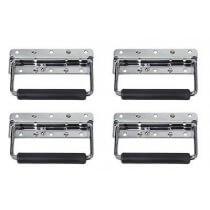 4x DAP Small Flip Handle Flightcase (Silver Metal)