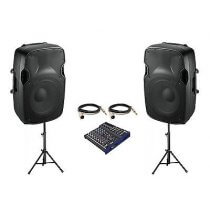 """2x Ibiza Sound XTK12A 12"""" Sound System (Bundle 2)"""