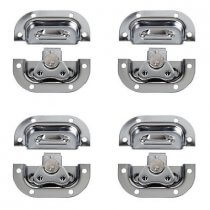 4x DAP Medium Butterfly Lock (Silver)