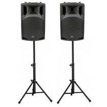 "2x QTX 15"" 1000w Active Sound System inc. Stands"