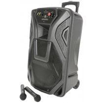 QTX Busker PA with VHF Mics, Media Player & Bluetooth