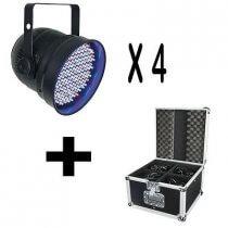 4x LED PAR56 inc. Flightcase