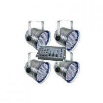 4x Equinox LED PAR56 inc. DMX Controller and Cables