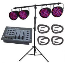 PAR56 LED Lights inc. Stand, Controller and Cables