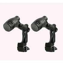 2x Pulse D-606 Tom / Snare Mic inc. shock mount drum clip