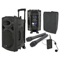 QTX QR15PA Portable PA System inc. Cover and Beltpack