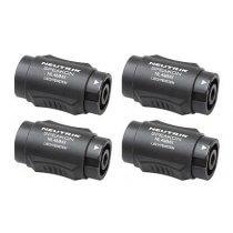 4x NEUTRIK® NL4MMX 4-pole Speakon® lockable in-line coupler