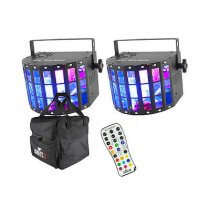 2x Chauvet Kinta FX IRC inc. IRC 6 Controller and Transport Bag