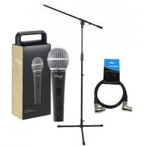 Stagg SDM50 Heavy Duty Dynamic Handheld Mic inc. Stand & Cable