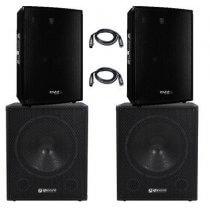 Ibiza/QTX 3800w Sound System PA Bundle