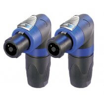 2x Neutrik NL4FRX Right-Angle Speakon Connector