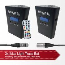 2x Ibiza Light Truss Bat inc. DMX Cables