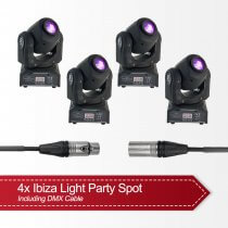 4x Ibiza Light LED Moving Head