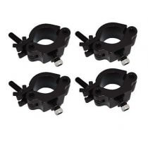 4x Global Truss Half Coupler Clamp (Black 500kg)
