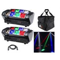 2x Equinox Onyx LED inc. Bag