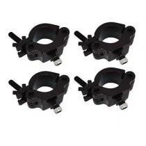 4x Duratruss Half Coupler Clamp (Black 50mm 500kg)