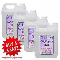 4x 5L Simply Sound & Lighting CO2 Effect Fluid