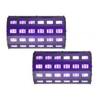2x Ibiza Light High Power UV Light