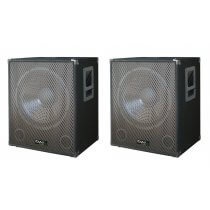 "2x Ibiza Sound 15"" 800w Active Subwoofers"