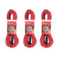 3x Chord XLR Mic Cable (12m Red )
