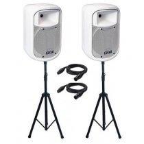 2x FBT J8A Active Speaker (White)