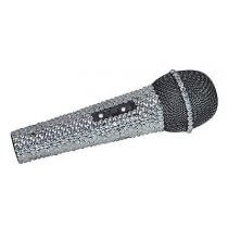 NJS Crystal Effect Silver Bling Microphone
