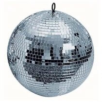 """New 300mm 12"""" Silver Sparkling Disco Lights Halloween Party Large Mirror Ball"""