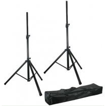 Pulse Speaker Kit Stand Black Metal Heavy Duty 35MM Sound System