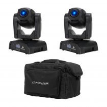 2x ADJ Pocket Pro (Black Housing) inc. Carry Case