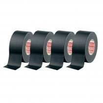 4x TESA Matt Gaffa Black Tape 50M x 50MM Stage Lighting Suitable for Cables