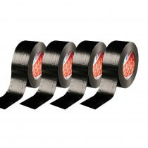 4x TESA Gaffa Black Tape 50M x 50MM Stage Lighting Suitable for Cables/Leads