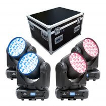 4x ADJ Inno Color Beam Z19 19 x 10W RGBW LED Moving Head Zoom Wash Package