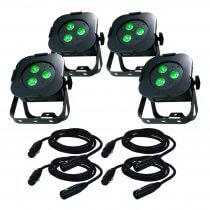ADJ Ultra Hex Par3 Lighting Package Uplighter LED Par DJ Band Light