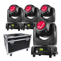 4 x ADJ Vizi Beam RXONE LED Moving Head inc. Flightcase