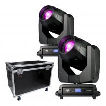 2x ADJ Vizi BSW 300 LED Moving Head inc Flightcase