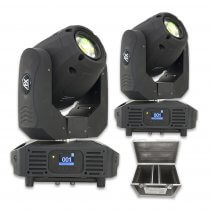 2x AFX BEAM 1R LED Moving Head 120W Disco DJ Lighting Package
