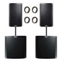 Alto Professional Truesonic PA System inc. Speaker Poles and Cables