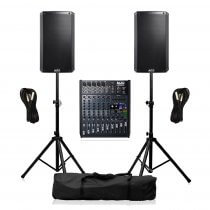 Alto TS315 PA System 4000W Sound Speaker System inc Mixer, Cables & Stands