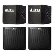 "Alto TS315S Active 15"" 4000W Subwoofer Bass Bin Speaker DJ Disco Sound System Package"