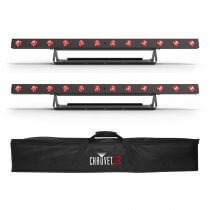2x Chauvet DJ COLOURband T3 Bluetooth Wireless LED Lighting Bar inc. Carry Bag