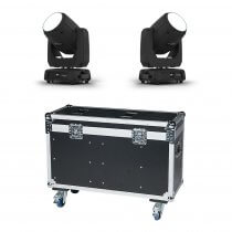 2x Chauvet DJ Intimidator Beam 355 IRC LED Moving Head 100W inc. Flightcase