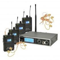 Chord IEM16 V2 In Ear Monitor Foldback System IEM Band 4 x Beltpack Bundle